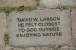 Nature center, #8 paver about feeling close toGod