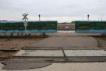 Mankato Poetry Walk, #4920 RR tracks, mural,sign