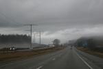Foggy Interstate 90 in Wisconsin,#5545