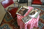 Photo exhibit, #5850 Edward Curtis books ontable