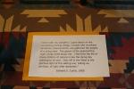 Photo exhibit, #5853 Curtis quote onblanket