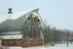 Winter storm, #5738 weathered barn