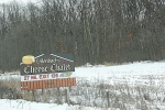 Cheese Chalet sign along I 90 inWisconsin