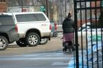 February in Faribault, MN, #6086 pushingstroller