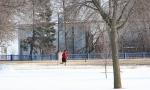 February in Faribault, MN, #6118 jogging inshorts