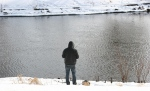 February in Faribault, MN, #6125 fishing in the CannonRiver