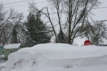 Snow removal, #6218 snow pile & stopsign