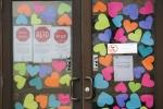 Hearts on doors, #6727 Rice County SocialServices