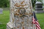 Cannon City Cemetery, #7828 gravestone of Civil Warsoldier