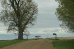 Country drive, #7262 van on gravelroad