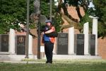Car cruise, #8290 bagpiper by vets'memorial