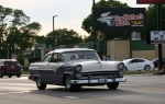 Car cruise, #8341 purple & white car TOOTIEplate