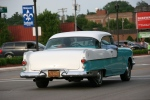 Car cruise, #8355 back of aqua & whitecar
