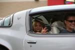 Car cruise, #8366 girl waving from back ofcar