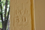 Depot in Kenyon, #7925 letters imprinted onwood