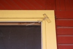 Depot in Kenyon, #7926 tape on windowtrim