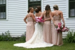 Village of Yesteryeard, #8558 backs of bridal party2