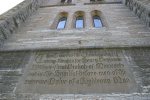 Whipple mural, #8226 tower words of thanksgivinginscribed