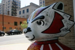 Bucky Badger statue, #205 Madison,WI