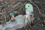 Mini garden art, #9016 rabbit, hedgehog andbicycle
