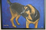 Art, #766 You ain't nothin' but a hound dog by Julie MFakler