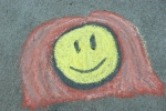 Chalk art, #506 smileyface