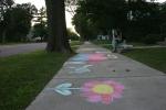 Chalk art, #510 full view of sidewalk chalkart