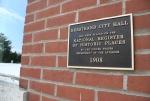 History, #595 historic plaque at cityhall