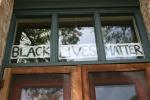 Message on house, #631 black livesmatter