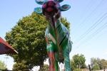 Atwood, #996 cow sculptureclose-up