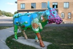 Bike trail, #1039 cow sculpture inMadison