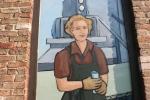 Kipp murals, #1033 womanclose-up