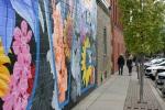 Northfield mural, #1226 last letters & couplewalking