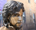 Prince memorial, #950 close-up of bronzestatue